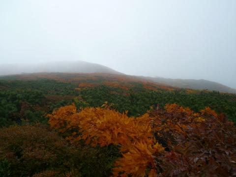 霧に包まれる栗駒.JPG