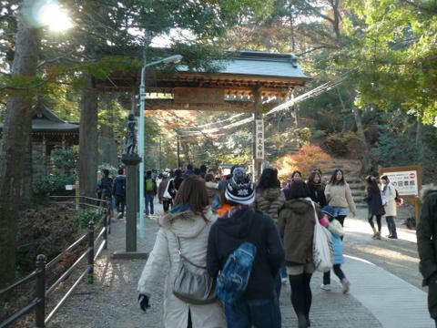 高尾山山頂に向かう1号路.JPG